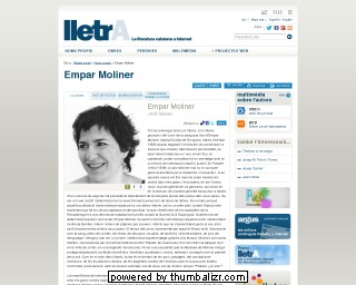 Empar Moliner on the Lletra website in Catalan