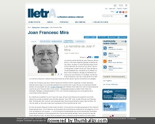 Joan Francesc Mira on the Lletra website in Catalan