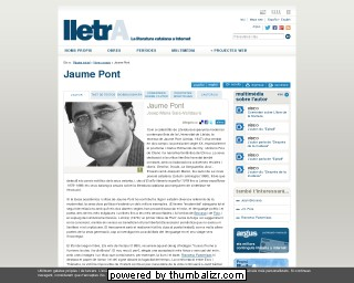 Jaume Pont on the lletrA website in Catalan