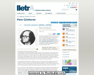 Pere Gimferrer on the Lletra website in Catalan