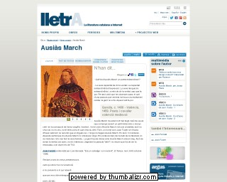 Ausiàs March on the Lletra website in Catalan