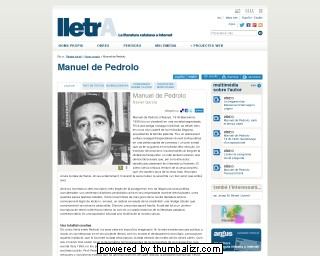 Manuel de Pedrolo on the Lletra website in Catalan