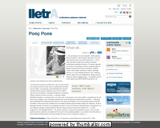 Ponç Pons on the Lletra website in Catalan