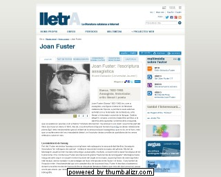 Joan Fuster on the Lletra website in Catalan