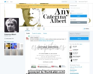 Any Caterina Albert, a Twitter