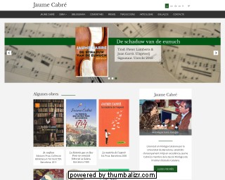 Jaume Cabré's official web