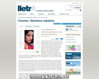Cinema and Catalan Literature