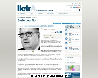Bartomeu Fiol on the lletrA website in Catalan