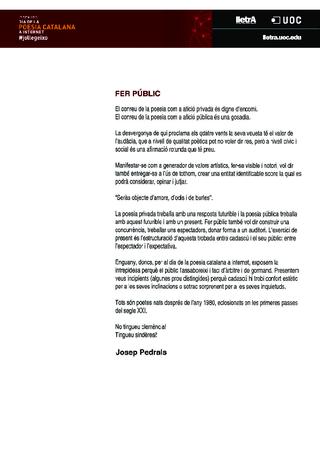 33 poetes de menys de 35, edició de Josep Pedrals