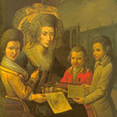 La dona i els fills del baró de Maldà
