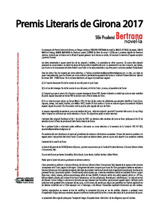 50è Premi de novel·la Prudenci Bertrana