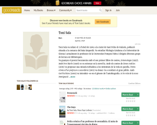 Toni Sala in Goodreads