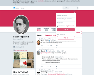 Joan Salvat-Papasseit, a Twitter