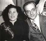 Joan Coromines amb la seva esposa, Bàrbara de Haro, amb qui es casà el 1936