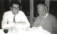 Coromines amb Joan Ferrer, un dels seus col·laboradors