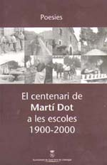 Centenari de Martí Dot. Portada del llibre editat per l'Ajuntament de Sant Feliu.